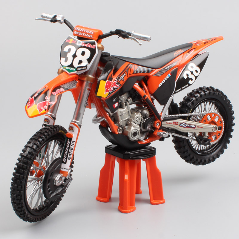 1:12 scale KTM 250 SXF red bull No.38 Marvin Musquin Motorcycle Die cast Model redbull Motocross racing car bike toy miniatures