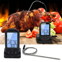 Digital LCD Wireless Remote Kitchen Oven Food Cooking Meat BBQ Thermometer For BBQ Grill Meat Oven