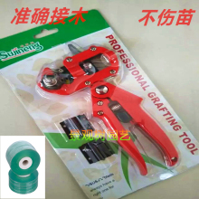 Red Color Simple Package 3 Blades+2 Tppe 1X Small Manual Fruit Tree Vegetables Grafting Knife Cutting Tool Device