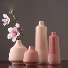 Nordic Pink ceramic Vase Dried flower vase Crafts furnishings vases for centerpieces for weddings home decoration accessories modern nordic ceramic vases ornaments crafts geometric flower vase decorative centerpieces for weddings home decoration