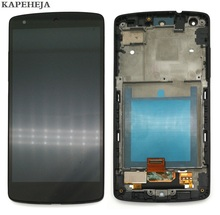 цена на 4.95 For LG Nexus 5 D820 D821 LCD Display Touch Screen Digitizer Assembly with Bezel Frame