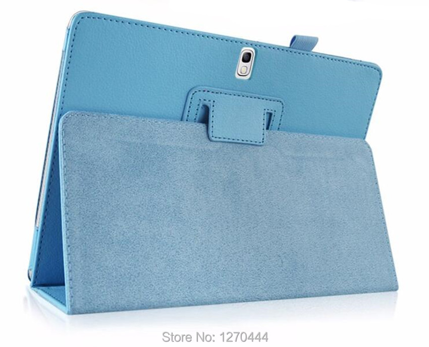 Samsung Tab S 10.5 Litchi cilt için Deri koruyucu kılıflar standı - Tablet Aksesuarları - Fotoğraf 6