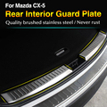 For Mazda CX-5 CX5 2012 2013 2014 2015 2016 Stainless Steel Inner Rear Bumper Protector Sill Trunk Trim accessories CAR styling