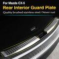 Para Mazda CX-5 2012 2013 CX5 2014 2015 2016 Inoxidável aço Interior Rear Bumper Protector Sill Trunk Guarnição acessórios DO CARRO styling