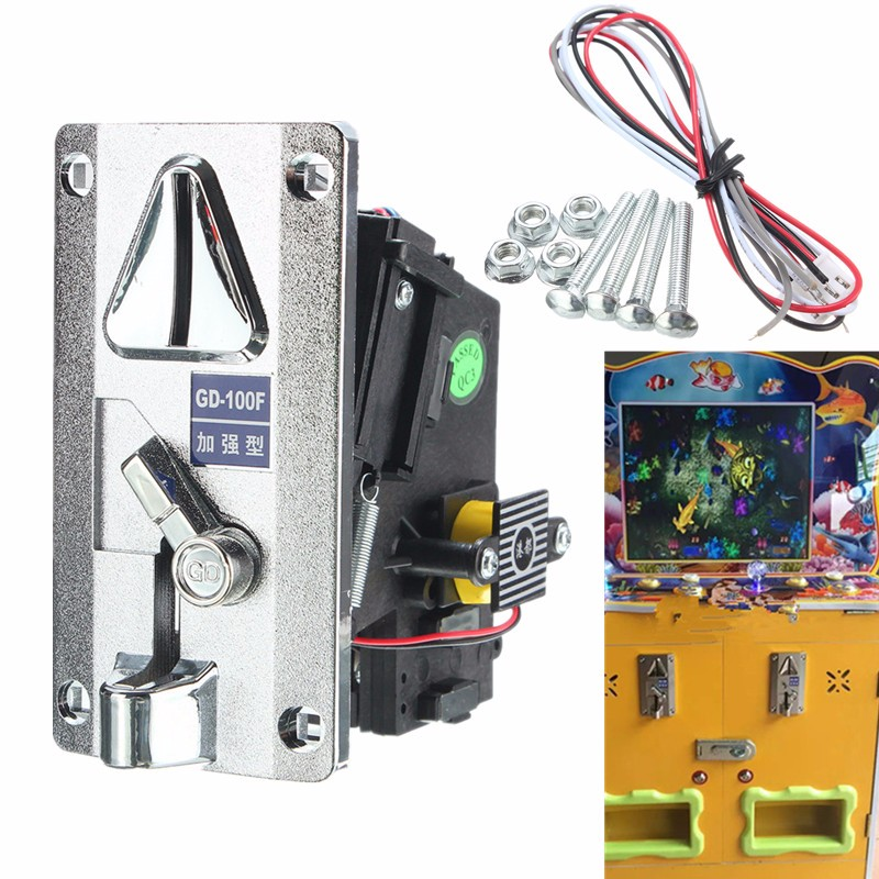 Plastic Electronic Advanced Front Entry Roll Down Coin Acceptor Comparison Coin Selector For Vending Machines Arcade Machines