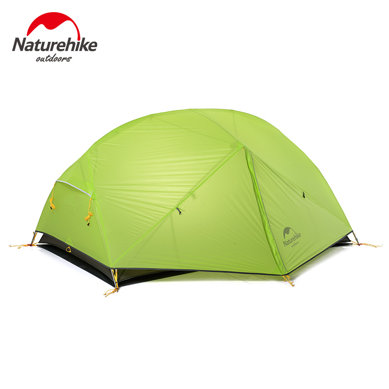 Naturehike 2 Person Ultralight Silicone Camping Tent Outdoor Best Hiking Hunting Mountaineering Camp Tent For MSR Hubba high quality outdoor 2 person camping tent double layer aluminum rod ultralight tent with snow skirt oneroad windsnow 2 plus
