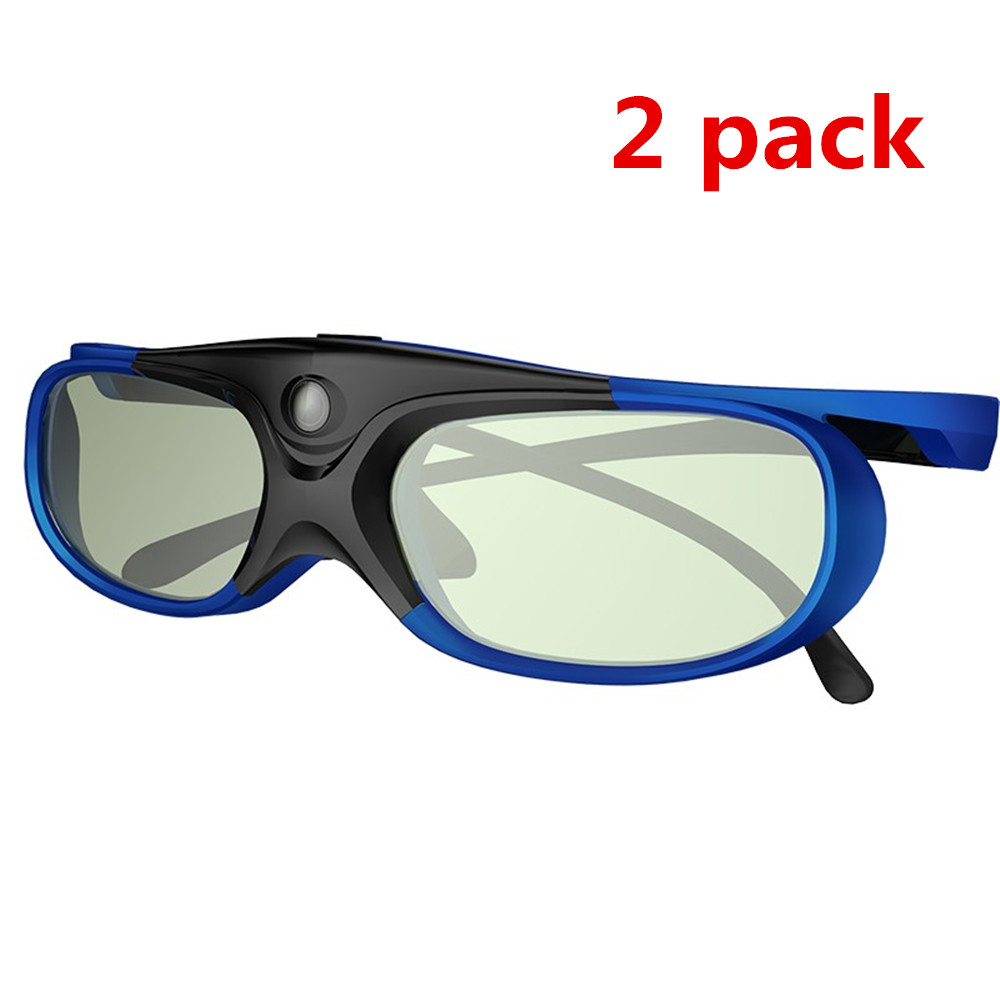 2pcs Active Shutter Rechargeable 3D DLP Glasses Support 144HZ For Xgimi Z3/Z4/Z6/H1/H2 Nuts G1/P2 BenQ Acer &DLP LINK Projector(China)