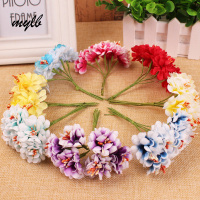 72 PCS Lot Of Sakura Artificial Flower Wreath Of DIY Bracelets Flowers Wedding Decoration Materials Of