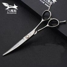 KUMIHO 6inch curve shear Japan 440c HITACHI stainless steel barber scissors mirror polished color trimming scissors free ship ножницы tiemco deer dresser scissors curve