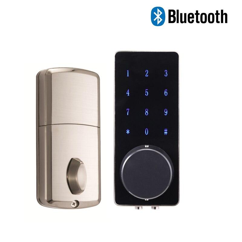 Jcsmarts accueil Cerradura électronique Serrure de Porte électronique Bluetooth Serrure de Porte avec clavier numérique