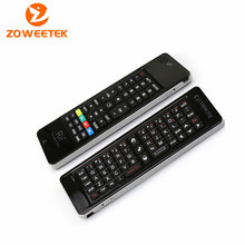 2.4 GHz Rii Mini i13 micrófono altavoz inalámbrico teclado inglés con aire Fly ratón para PC HTPC caja elegante del androide TV juego teclados