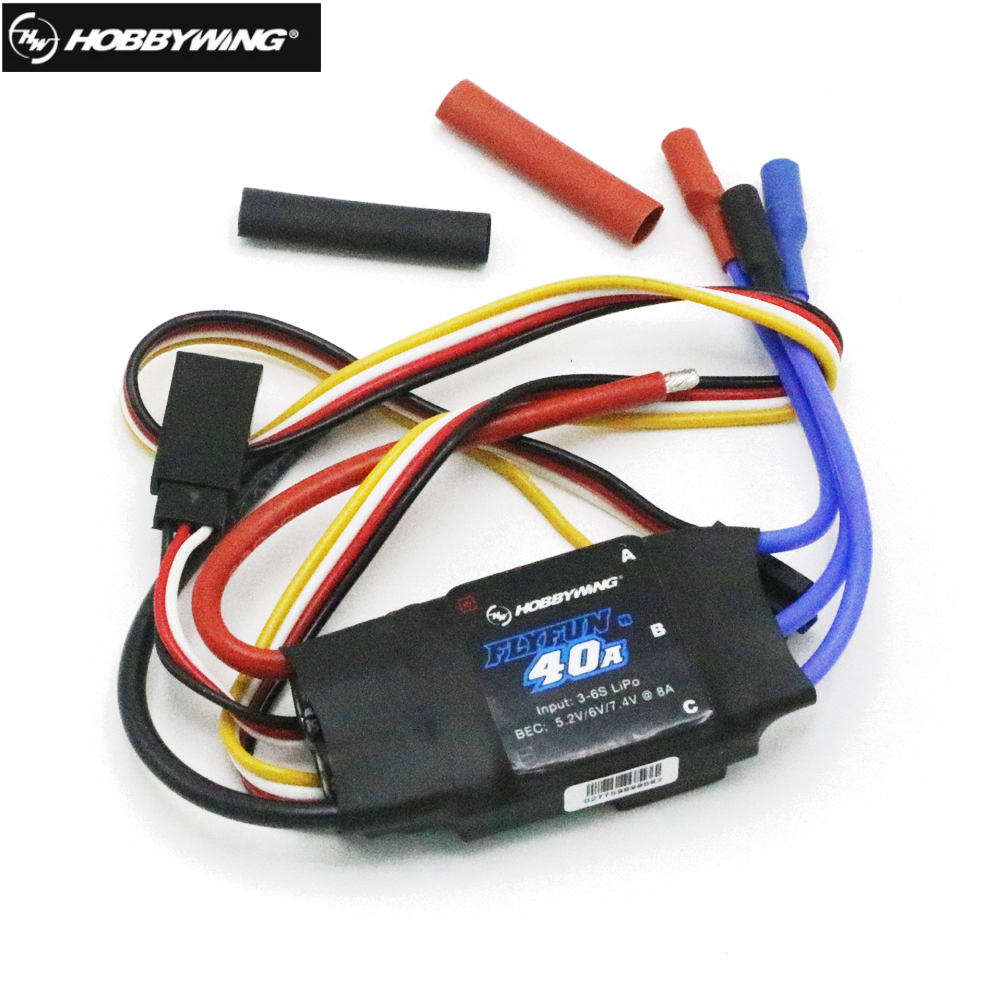 Hobbywing FlyFun 30A 40A V5 2-4S 2-6S Electric Speed Control ESC for RC Aircraft Multicopter Rc Airplane Helicopter dys bl30a blheli opto mini esc 30a special purpose electric control system for 6s multi rotor aircraft
