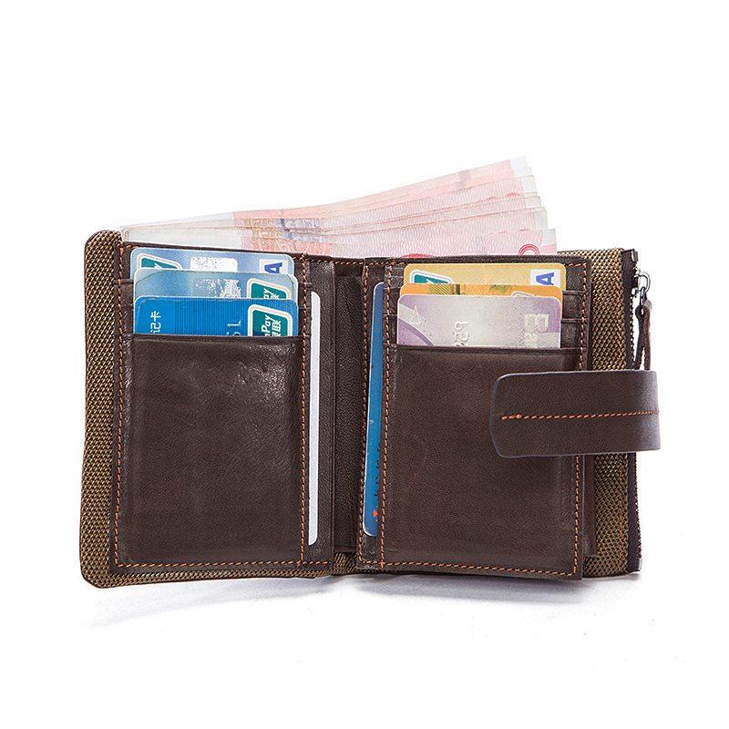 COMFORSKIN New Arrivals Business Short Men Wallet 100 Genuine Leather Vintage Thread Style Hot Brand Design Men Coin Purse 2019 in Wallets from Luggage Bags
