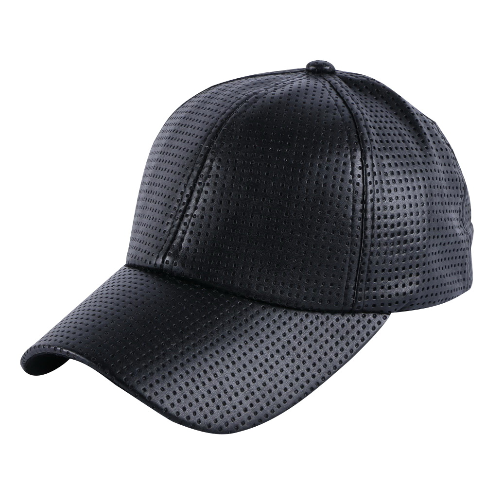 c7afb89b63c wholesale men women luxury summer baseball cap Pinhole Breathable leather simple  solid colorful girl boy brand snapback hats