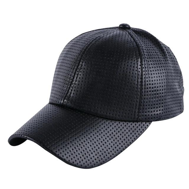 41692ed64f6 wholesale men women luxury summer baseball cap Pinhole Breathable leather  simple solid colorful girl boy brand snapback hats