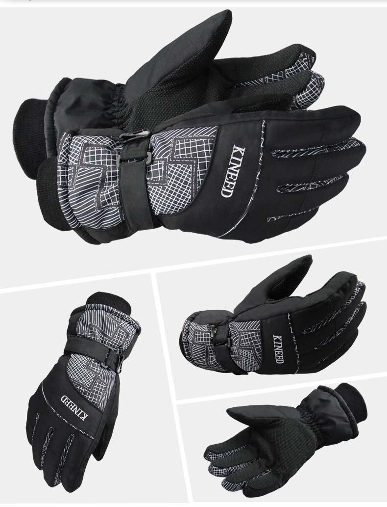 GLV863 Winter ski font b gloves b font for men and women prevent cold ani slippery