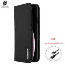 Dux Ducis Genuine Leather Wallet Case For Iphone Xs Max Vintage Magnet Card Flip Xr Phone Cover Coque New