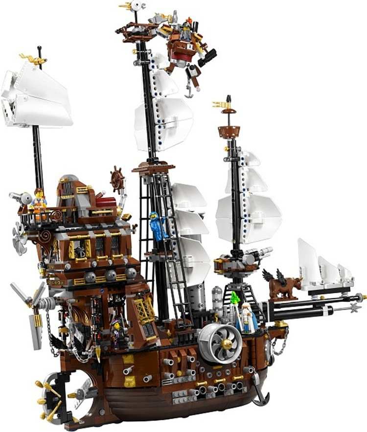 2017 New Arrival 16002 2791Pcs Pirate Ship Metal Beard's Sea Cow Building Blocks Toys Compatible Lepin Pirates Caribbean 70810 lepin 16002 22001 16042 pirate ship metal beard s sea cow model building kits blocks bricks toys compatible with 70810
