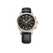 Наручные часы Swiss Military SM34052.10 мужские с кварцевым хронографом на кожаном ремешке
