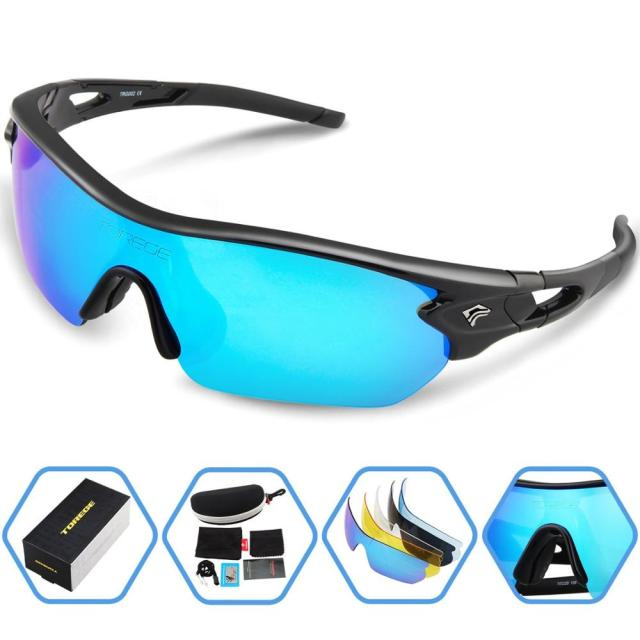 4ebd7266e5e Polarized Sports Sunglasses for Men Women Cycling Running Driving Fishing  Golf Hiking Glasses Professional Athletes Eyewear