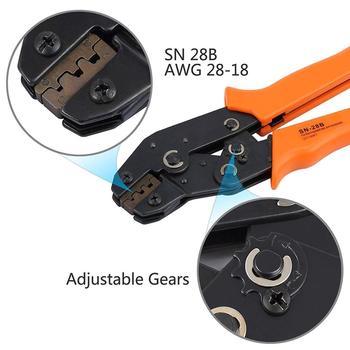 SN-28B + 1550 Pcs dupont crimping คีมเครื่องมือเทอร์มินัล crimper ลวดมือชุดเครื่องมือเทอร์มินัล clamp ชุดเครื่องมือ