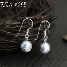 New Design Dangle Earrings Fashion 925 Thai Silver 8.30mm Round Ball For Women High Quality 2.40g WTH001