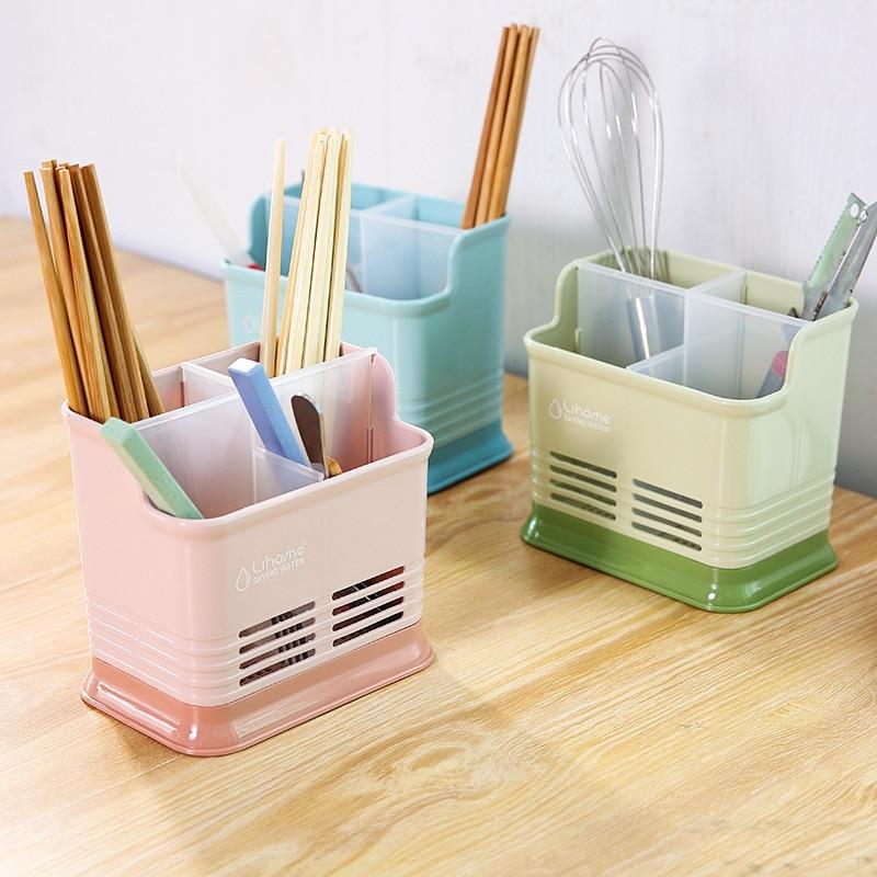 Бесплатная доставка ярких цветов решетки полые палочки для еды клетке Кухня Посуда Слива палочками стойку корзина для хранения