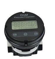OGM DN25 1 дюймов цифровой электронный измеритель потока, метанол/алкоголь/Дизель/Бензин Высокая точность OGM Овальный шестерни расходомер