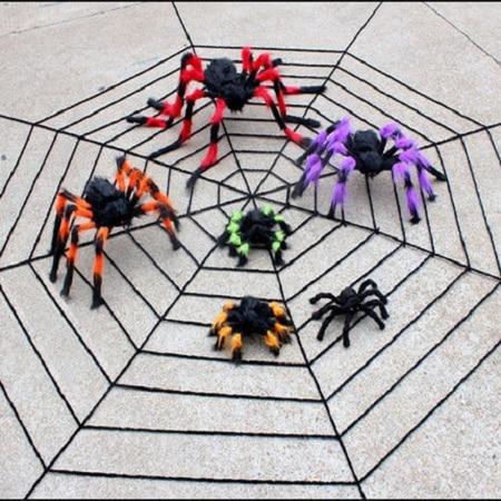 75 cm ila 200 cm süper büyük peluş örümcek tel ve peluş siyah - Tatiller ve Partiler Için - Fotoğraf 3