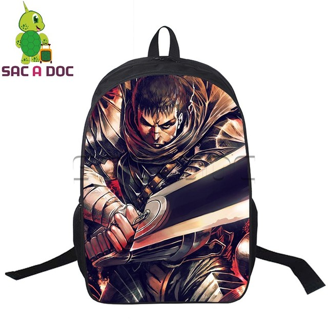 Anime Berserk Backpack Young Men Women Daily Guts Printing School Bags For Agers S Boys