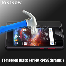 JONSNOW Tempered Glass for Fly FS458 High Clear 2.5D 9H Protective Film Front LCD Screen Protector for Fly Stratus 7 FS458 чехол книжка euro line jacketcradle для fly fs458 черный