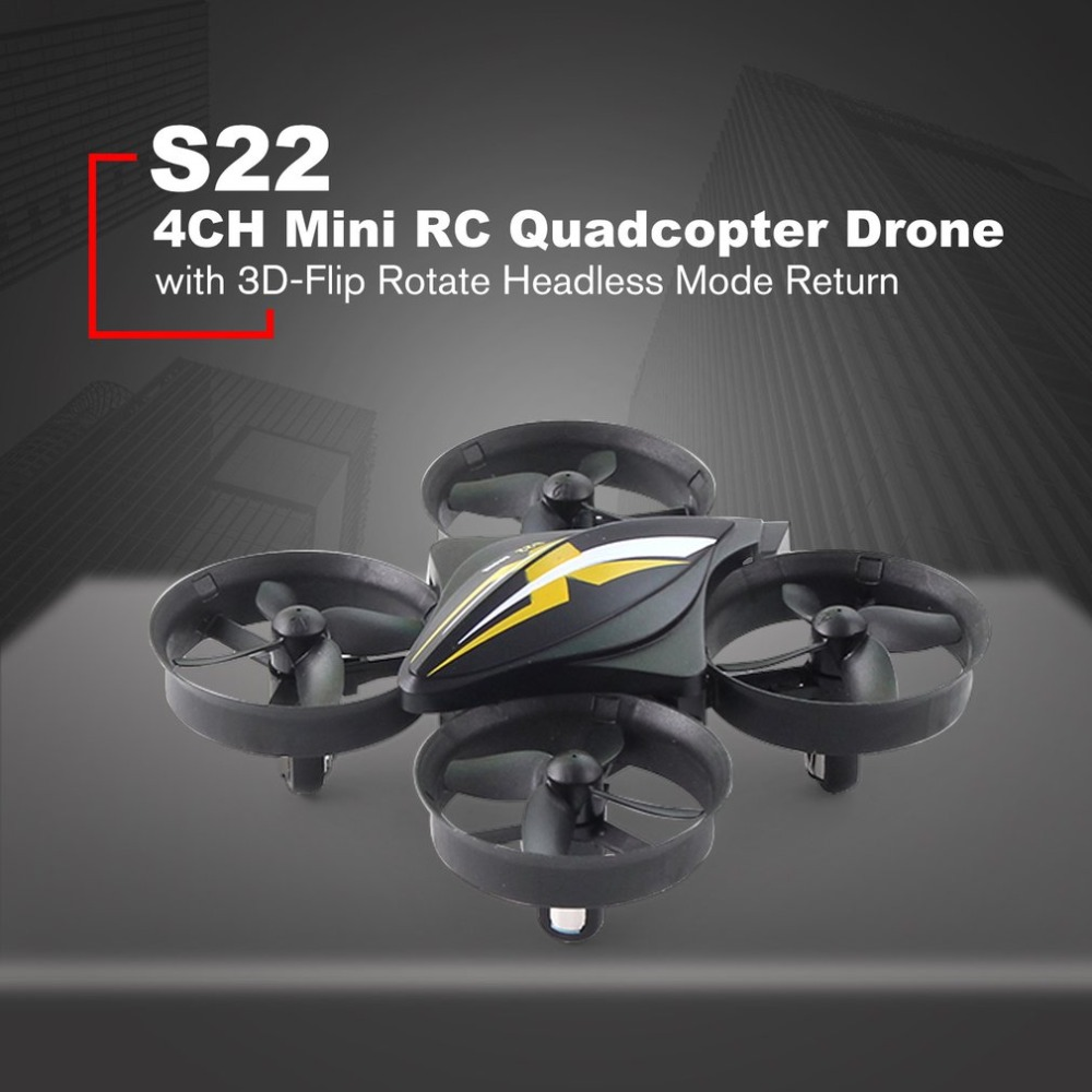S22 Mini dron 4CH RC Quadcopter Drone Aircraft UAV Toy with One Key Return Headl