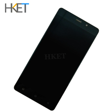 Original For highscreen power five LCD Five pro Display+Touch Screen Sensor Complete Digitizer with touch buttons Assembly