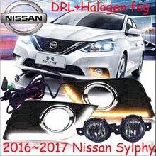 Car styling Sylphy daytime light 2006 2011 2016 2017 chrome car detector LED Free ship 2pcs