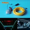 NEW Kind 2.3-Skirt 10Meters Sound Activated EL Wire Flexible Neon Light Glow LED Strip Tape With Car Internal Party Decoration