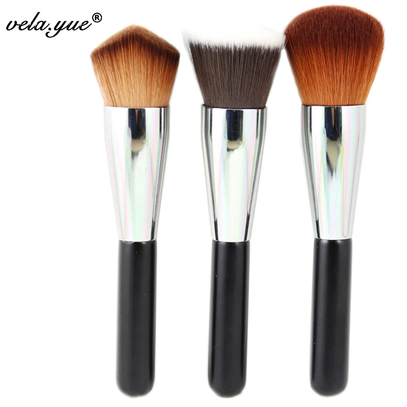 Professional Makeup Brushes Set 3Pcs Powder Blush Foundation Multipurpose Brush For Face Makeup Kabuki Tools Kit bluefrag highlighter makeup brush flawless face brush multipurpose powder foundation blush blbr0132