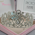 Noble and Elegant Women Alloy Tiara Fashion Silver Plated Wedding Accessiores Rhinestone Bridal Hair Wedding Accessories RE155