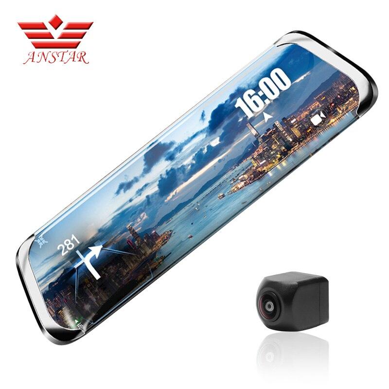ANSTAR регистраторы full HD 1920x1080 P Видеорегистраторы для автомобилей Камера зеркало заднего вида ADAS Wi-Fi 10''IPS 4G видео Камера русский язык Регистрат...