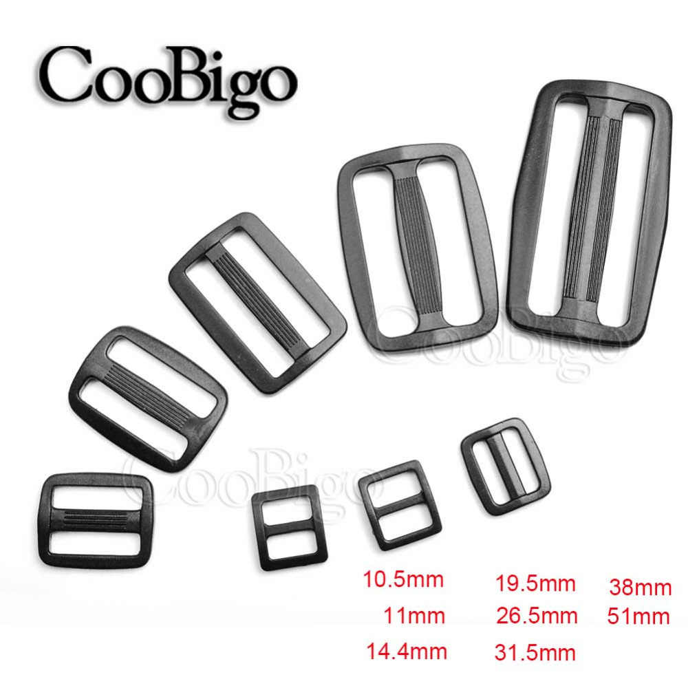 10pcs Pack 10/16/20/25/32/38mm Plastic Curved Tri Glide