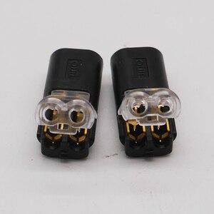 Image 5 - Darmowa wysyłka 5 100 sztuk 2 Pin Way Spring scotchlok złącze 24 18AWG drutu do taśmy LED szybkie Splice przewód łączący Crimp