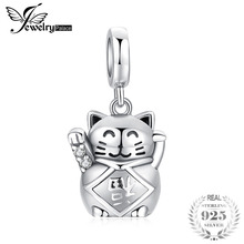 JewelryPalace 925 Sterling Silver Luck Love Lucky Cat Charm Beads For Mother And Daughter Hot Sale Beautiful Gift Trendy Jewelry
