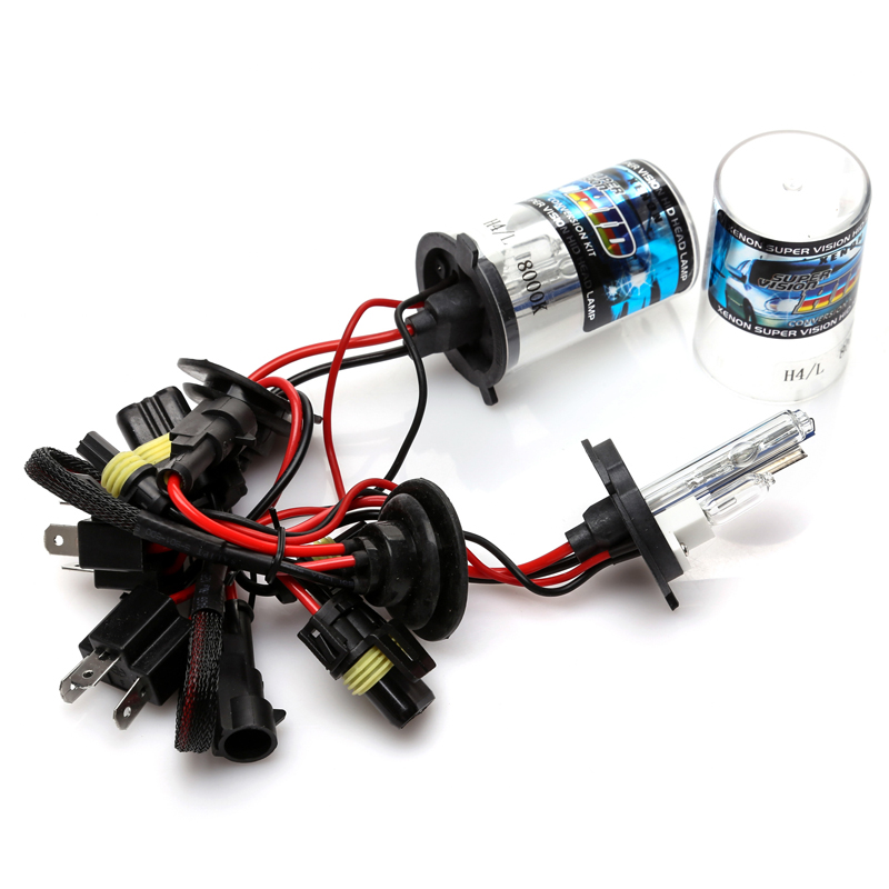 12V H4 with Halogen lamp 55W HID Xenon Conversion Kit Car Head Lights Bulbs Low/High 4300K 6000K 8000K