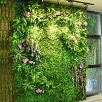 Искусственные растительные стены 40 см * 60 см зеленые листья Gress Home Свадебная вечеринка сценический центр украшения Diy искусственный цветок с...