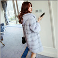 New Arrive 2017 Brand Fashion High-grade Women Mink Fur Coat With Hooded High Quality Warm Winter Women Parka Outwear Plus Size