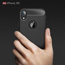 TPU Soft Silicone Case for iphone X XR XS 5 6 7 8 Plus Rubber Carbon Fiber Cover for iphone XS Max 5S SE Cases Coque Fundas