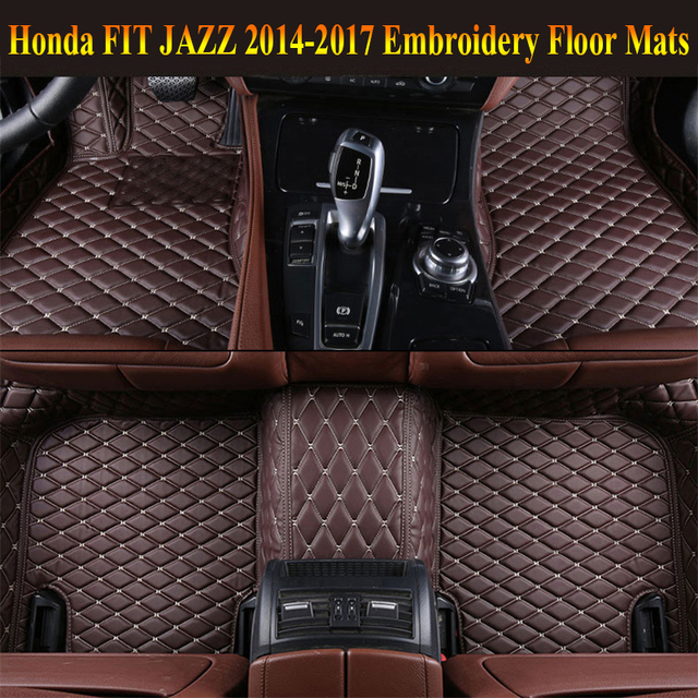 Perfect JIOYNG Floor Mats For Honda FIT JAZZ 2014 2017 Foot Carpets Pad Mat Step  Embroidery