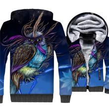 OWL Animal 3D Print Clothing Autumn Winter Thick Hoodie Male 2018 Hot Sale Streetwear Mens Sweatshirts Hip Hop Punk Hoodies Men