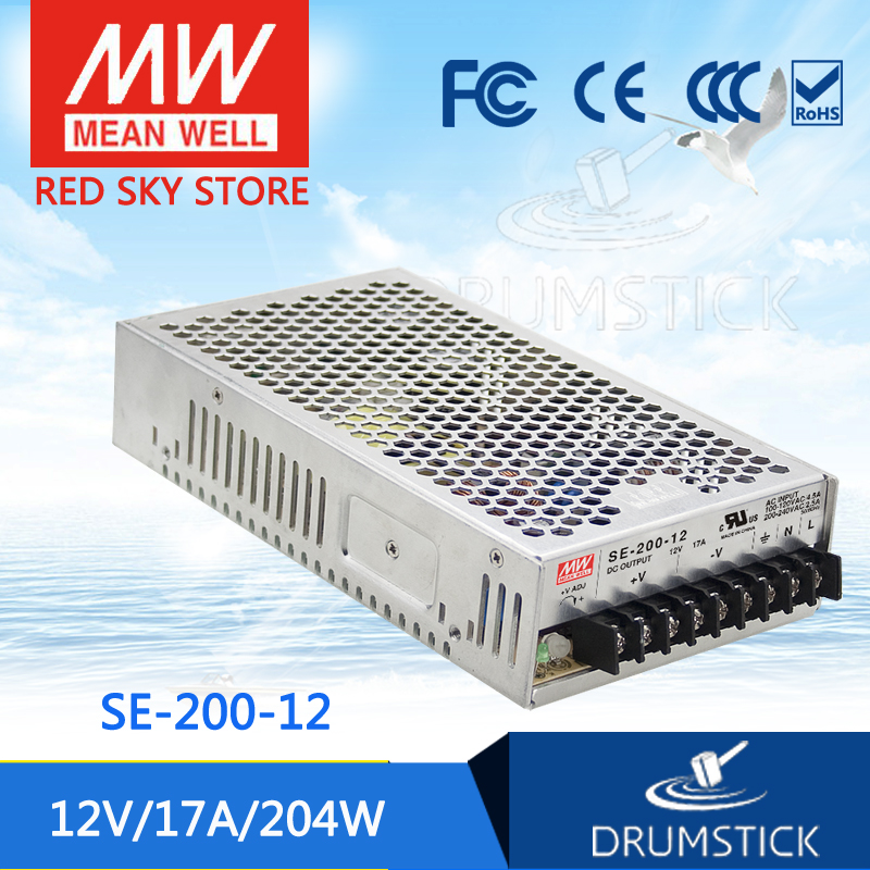 купить Selling Hot MEAN WELL SE-200-12 12V 17A meanwell SE-200 12V 204W Single Output Switching Power Supply недорого