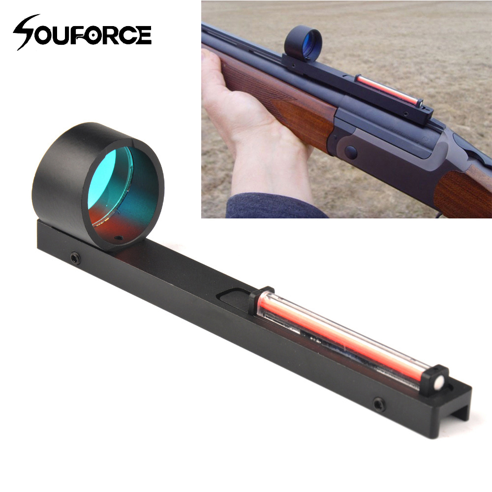 Red Fiber Red Holographic Scope Sight Dot Sight For Shotgun Rib Rail HGun Accessory Hunting rib knit tights
