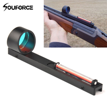 Red Fiber Red Holographic Scope Sight Dot Sight For Shotgun Rib Rail HGun Access